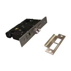 LB Brass 4103RHR275HL506 Mortise Lock in Brushed Antique Brass