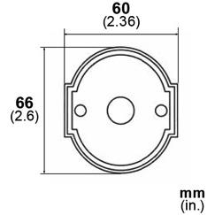LB Brass LR6010351 Escutcheon Plate in Satin Steel
