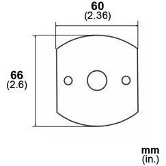 LB Brass LR6014311 Escutcheon Plate in Mat Bronze