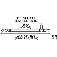 LB Brass LD8134380 Appliance/Door Pull in Rust