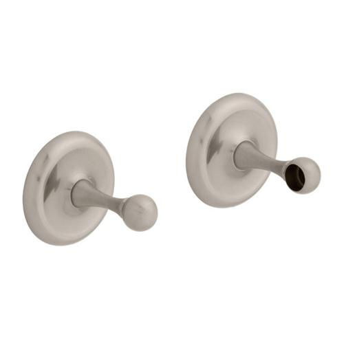 BEST VALUE by Liberty Hardware E8900PSN College Circle Pair of Towel B in Satin Nickel
