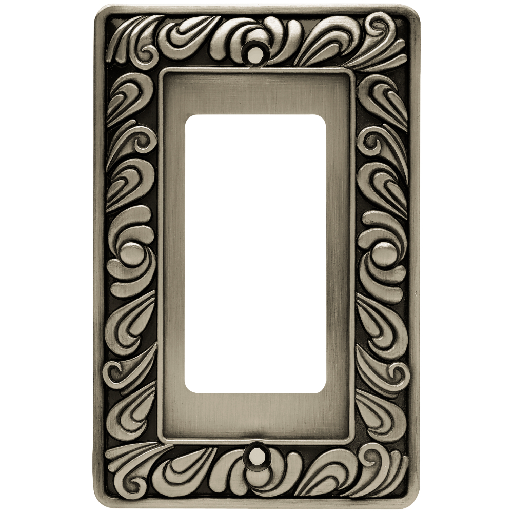 Liberty Hardware 64046 Paisley Single Decorator WallPlate, 1 per pkg