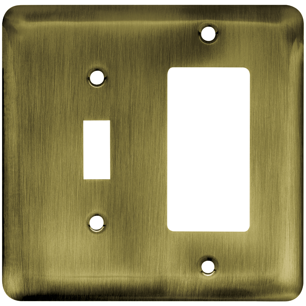 Franklin Brass by Liberty Hardware 64365 Stamped Round Single Switch and Decorator WP, 1 per pkg