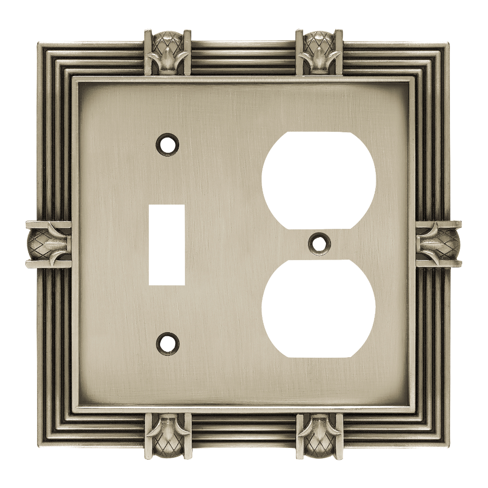 Liberty Hardware 64465 Pineapple Single Switch and Duplex Wall Plate, 1 per pkg