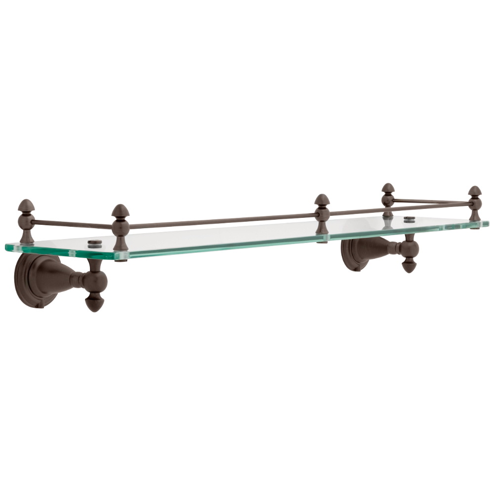 Liberty Hardware 75010-RB Victorian Glass Shelf, 1 per pkg