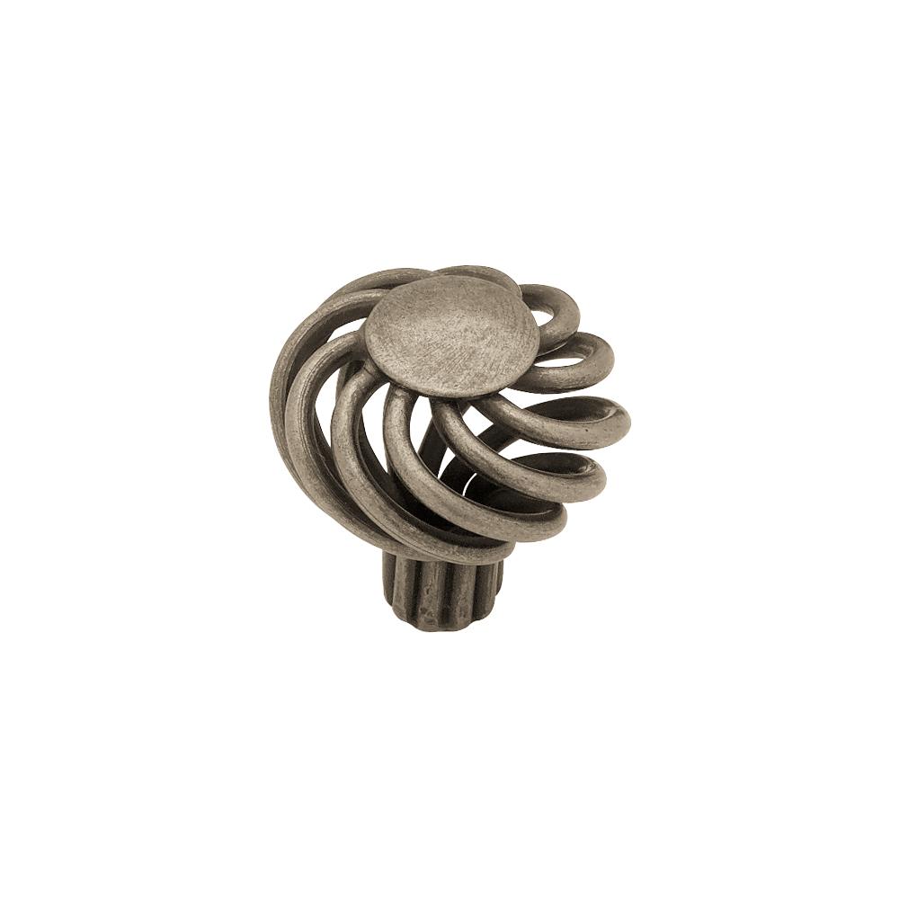 """Liberty Hardware PN9011-AP-C 1-1/4"""" Small Wire Swirl Design Knob, 1 per pkg"""