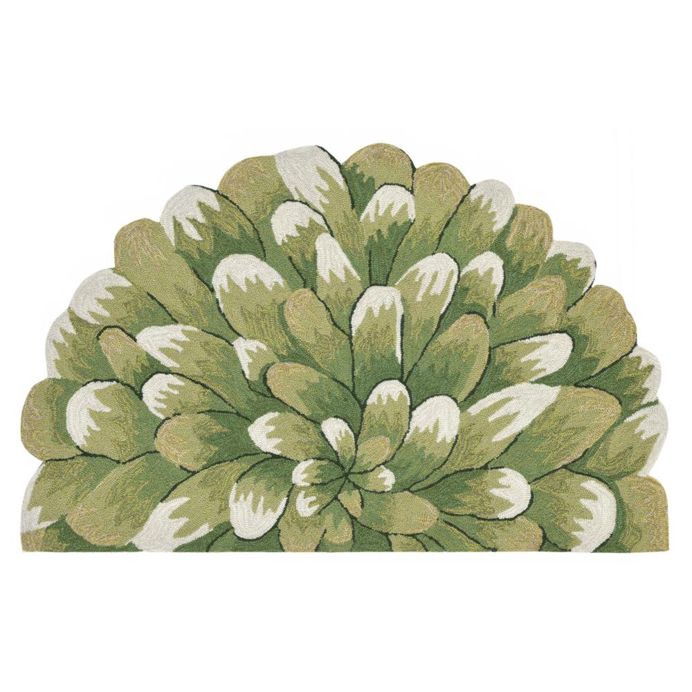 """Liora Manne 1828/06 Frontporch Mum Indoor/Outdoor Rug Green 20""""X30"""" 1/2 RD"""