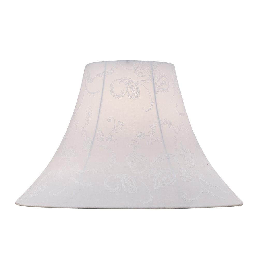 Lite Source CH1149-18 Shade in White Jacquard