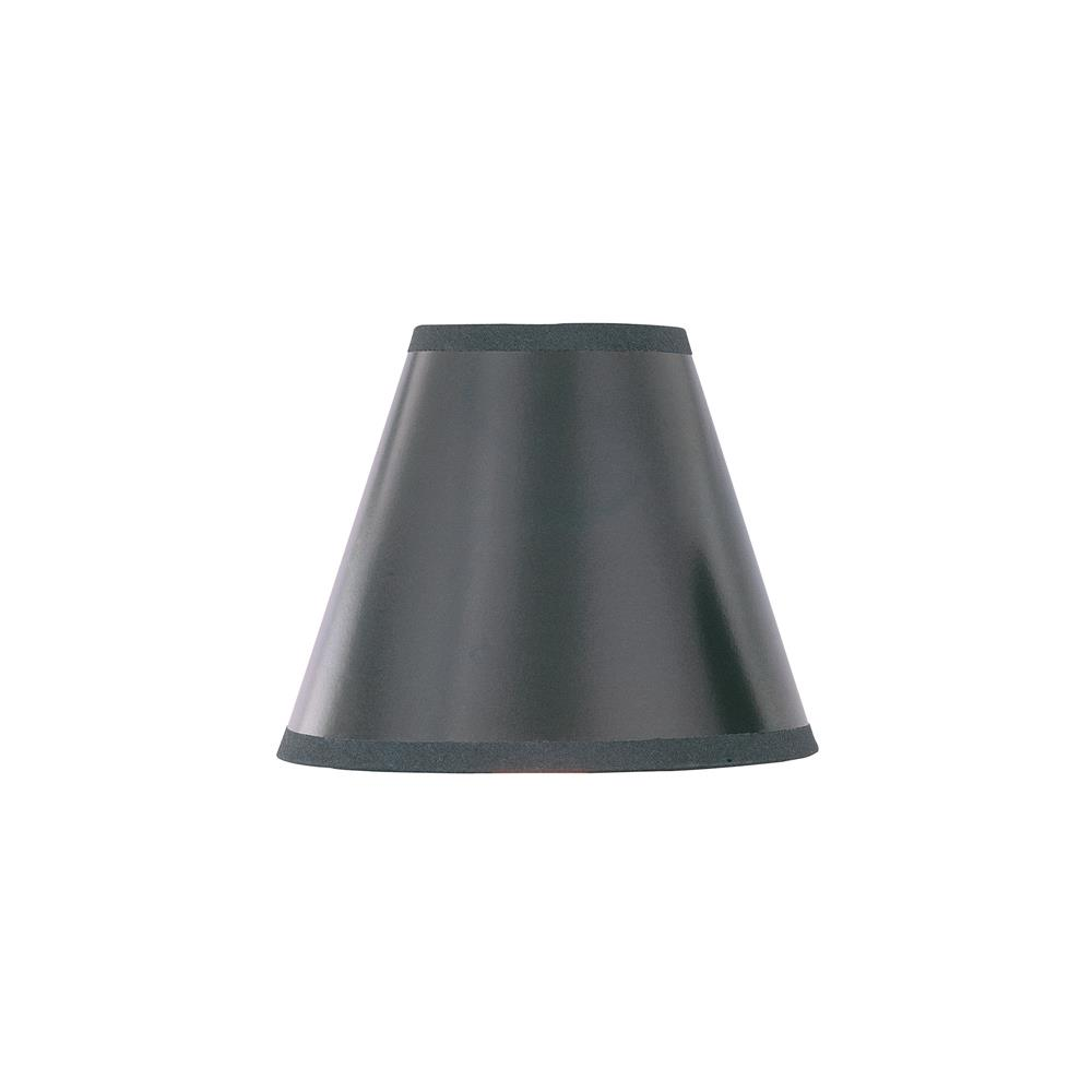 Lite Source CH573-5 Chandelier Shade in Black with Silver Liner
