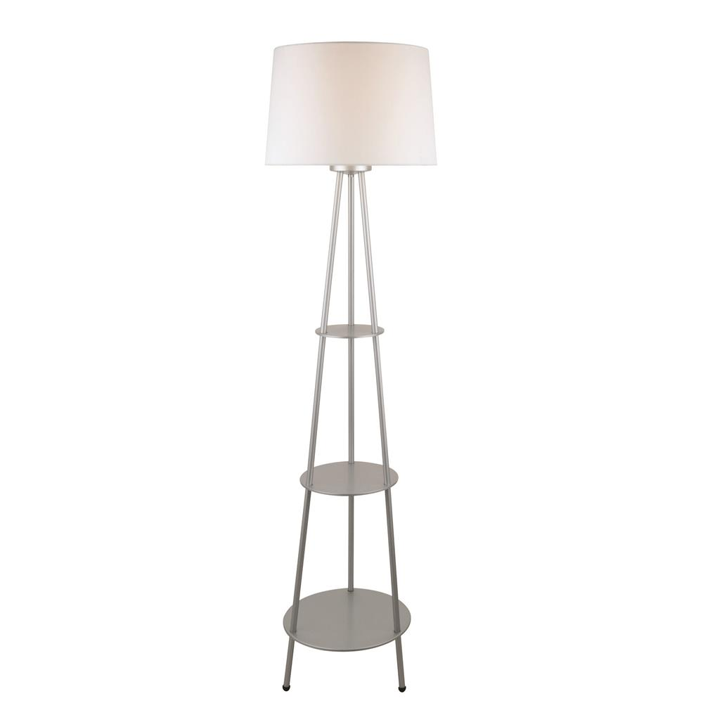 Ls 82380silv lite source ls 82380silv floor lamp w 3 for 3 tier floor lamp