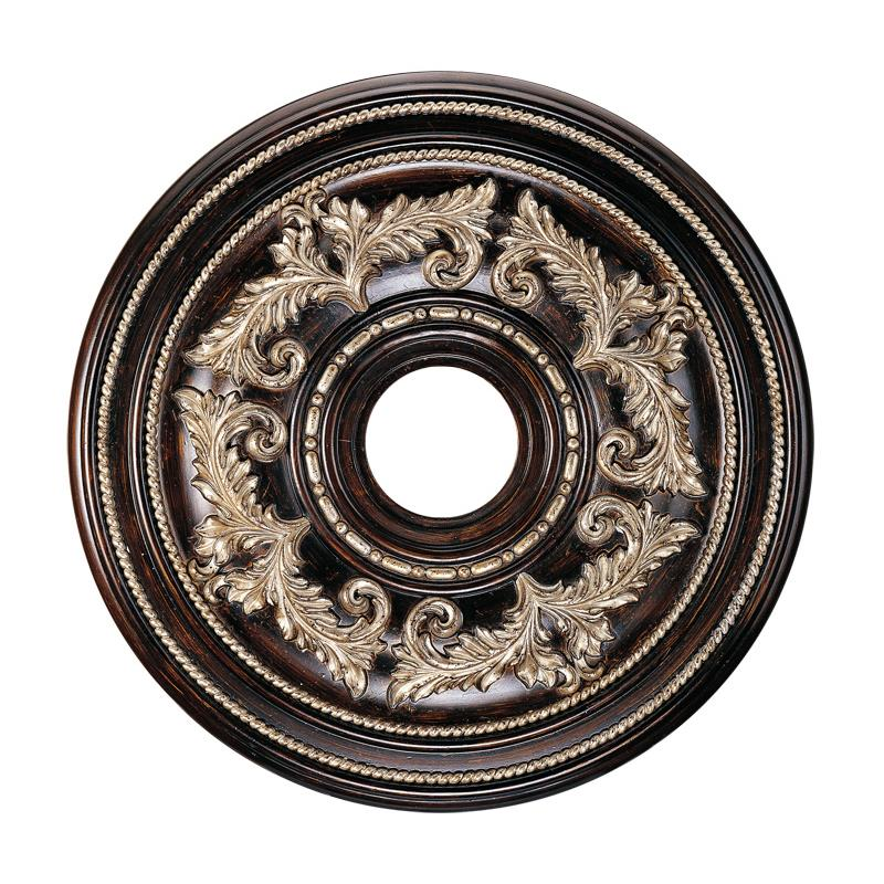 Livex Lighting 8200-40 Ceiling Medallion Ceiling Medallion in Hand Rubbed Bronze with Antique Silver Accents