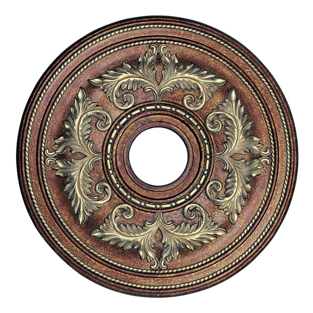 Livex Lighting 8200-64 Ceiling Medallion Ceiling Medallion in Palacial Bronze with Gilded Accents
