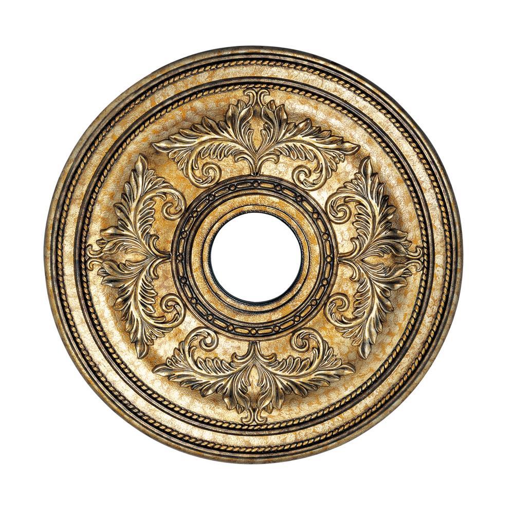 Livex Lighting 8200-65 Ceiling Medallion Ceiling Medallion in Vintage Gold Leaf