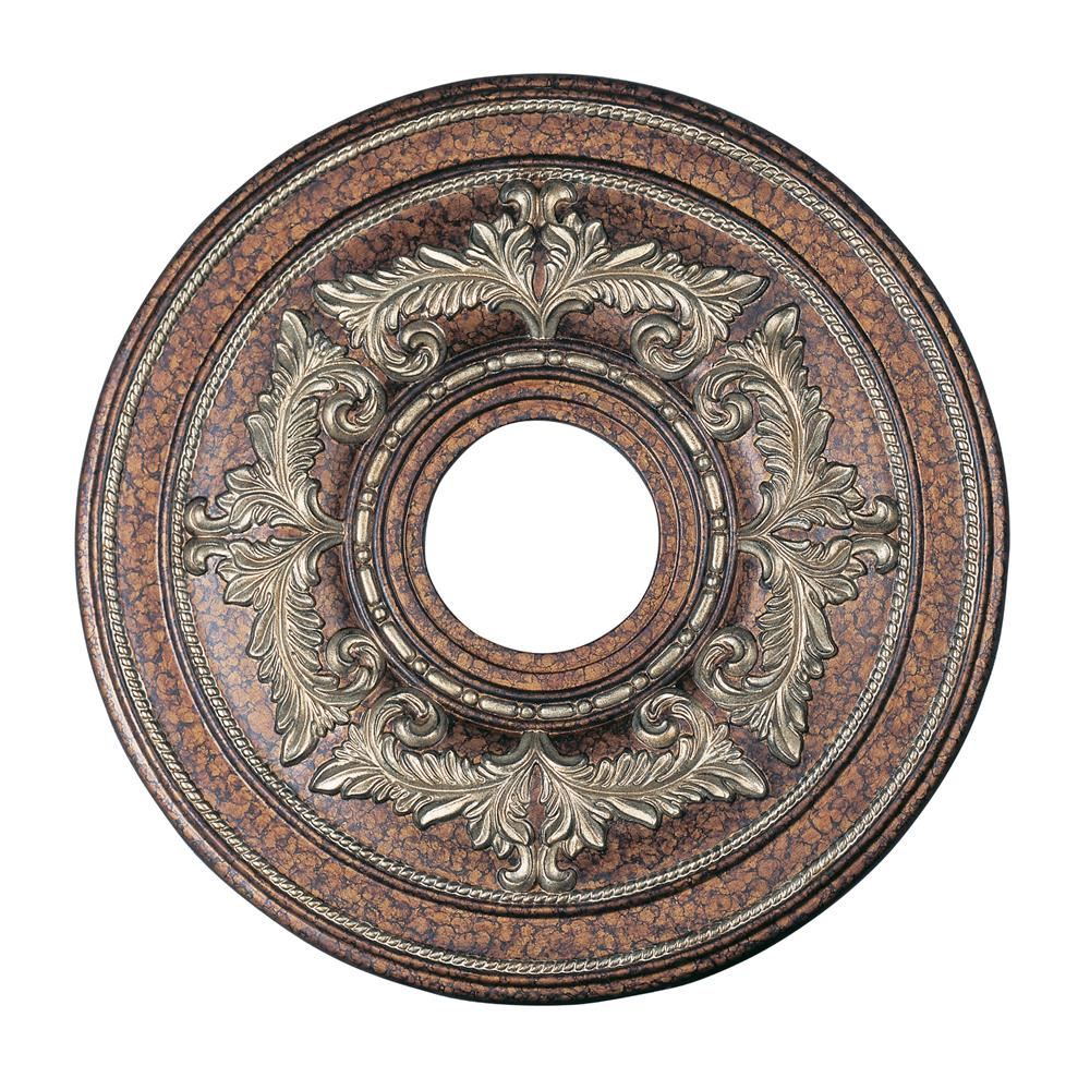 Livex Lighting 8205-64 Ceiling Medallion Ceiling Medallion in Palacial Bronze with Gilded Accents