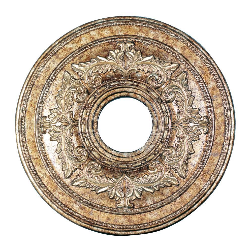Livex Lighting 8205-65 Ceiling Medallion Ceiling Medallion in Vintage Gold Leaf