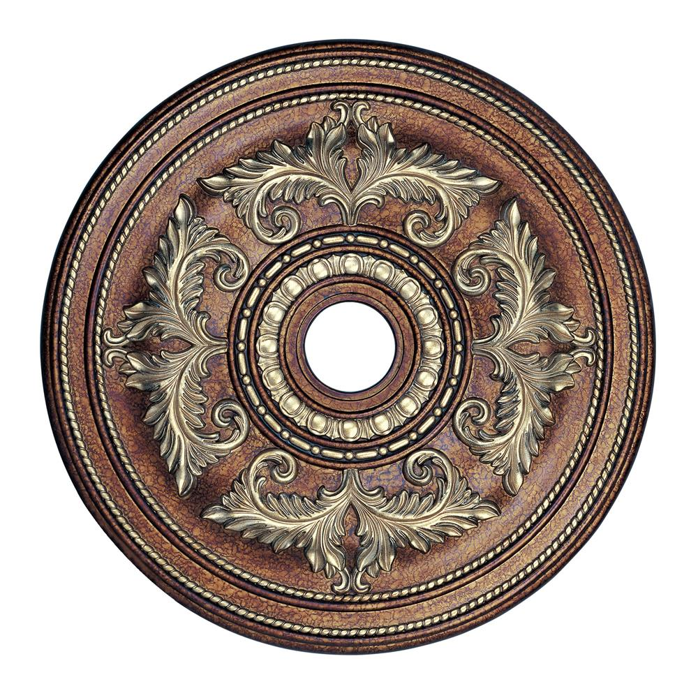 Livex Lighting 8210-64 Ceiling Medallion Ceiling Medallion in Palacial Bronze with Gilded Accents