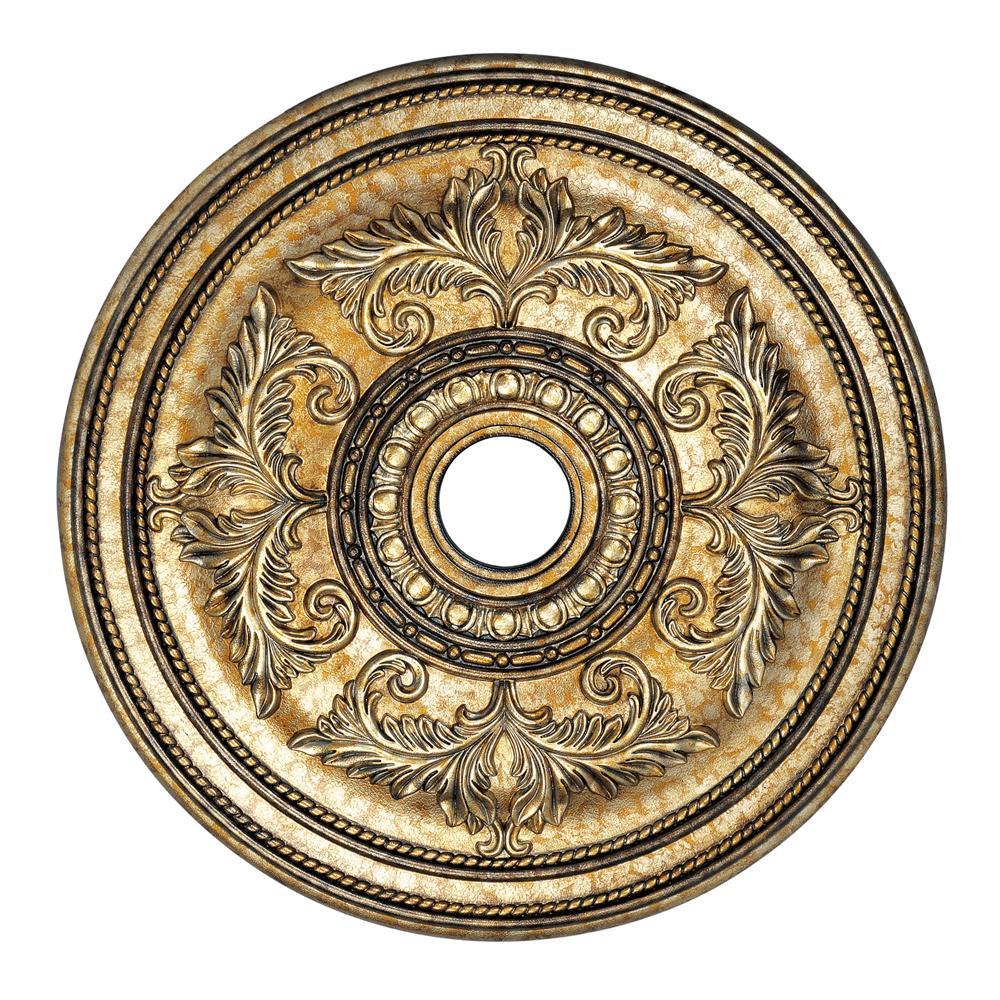 Livex Lighting 8210-65 Ceiling Medallion Ceiling Medallion in Vintage Gold Leaf
