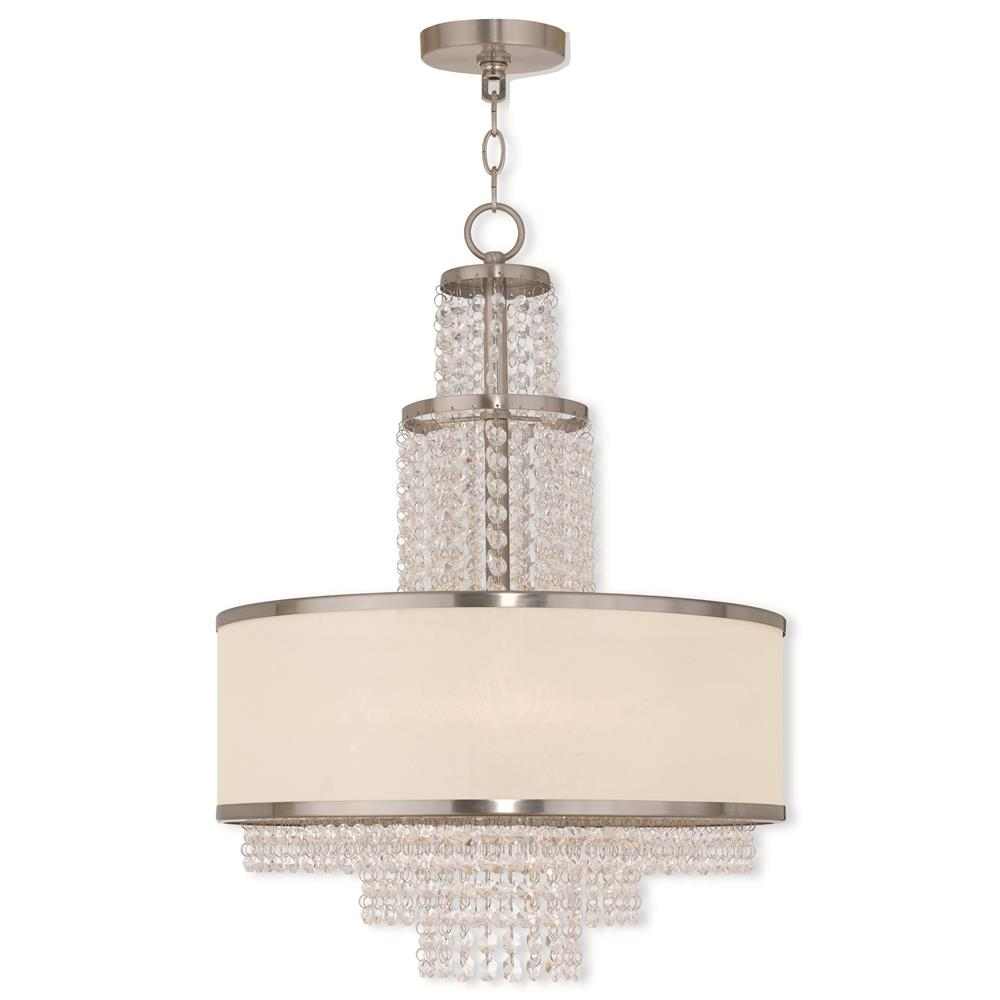 Livex Lighting 50785-91 Prescott Chandelier in Brushed Nickel