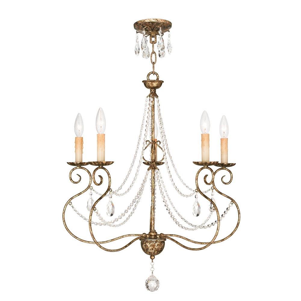 Livex Lighting 51905-36 Isabella Chandelier in Hand Applied European Bronze