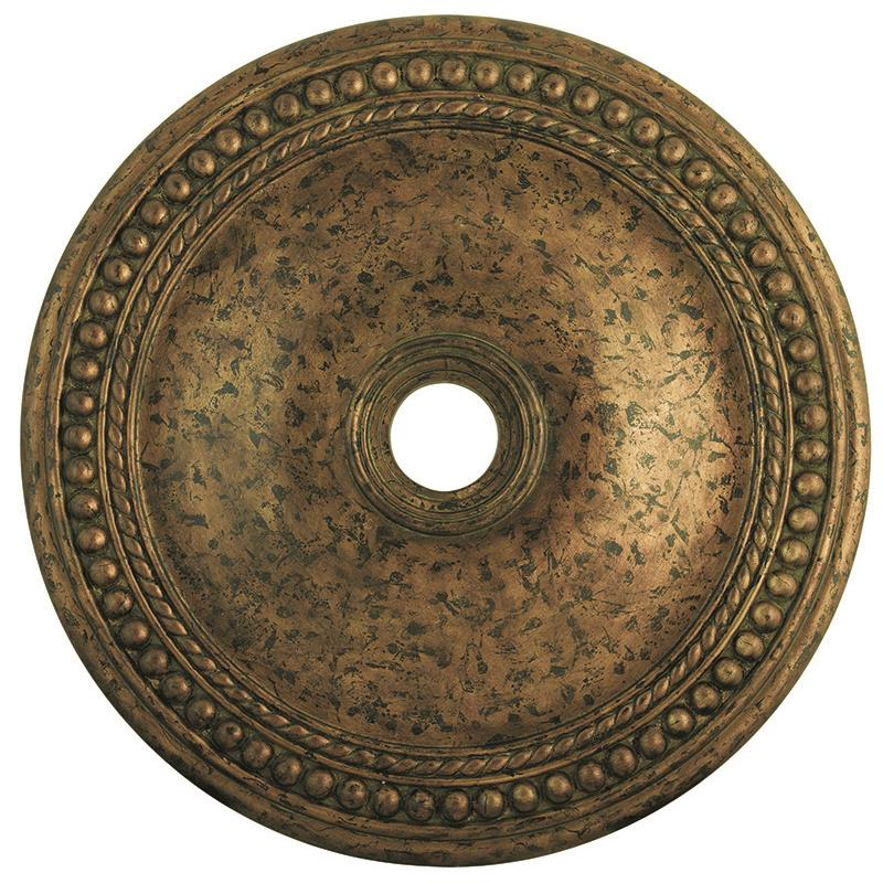 Livex Lighting 82077-71 Wingate Ceiling Medallion in Hand Applied Venetian Golden Bronze