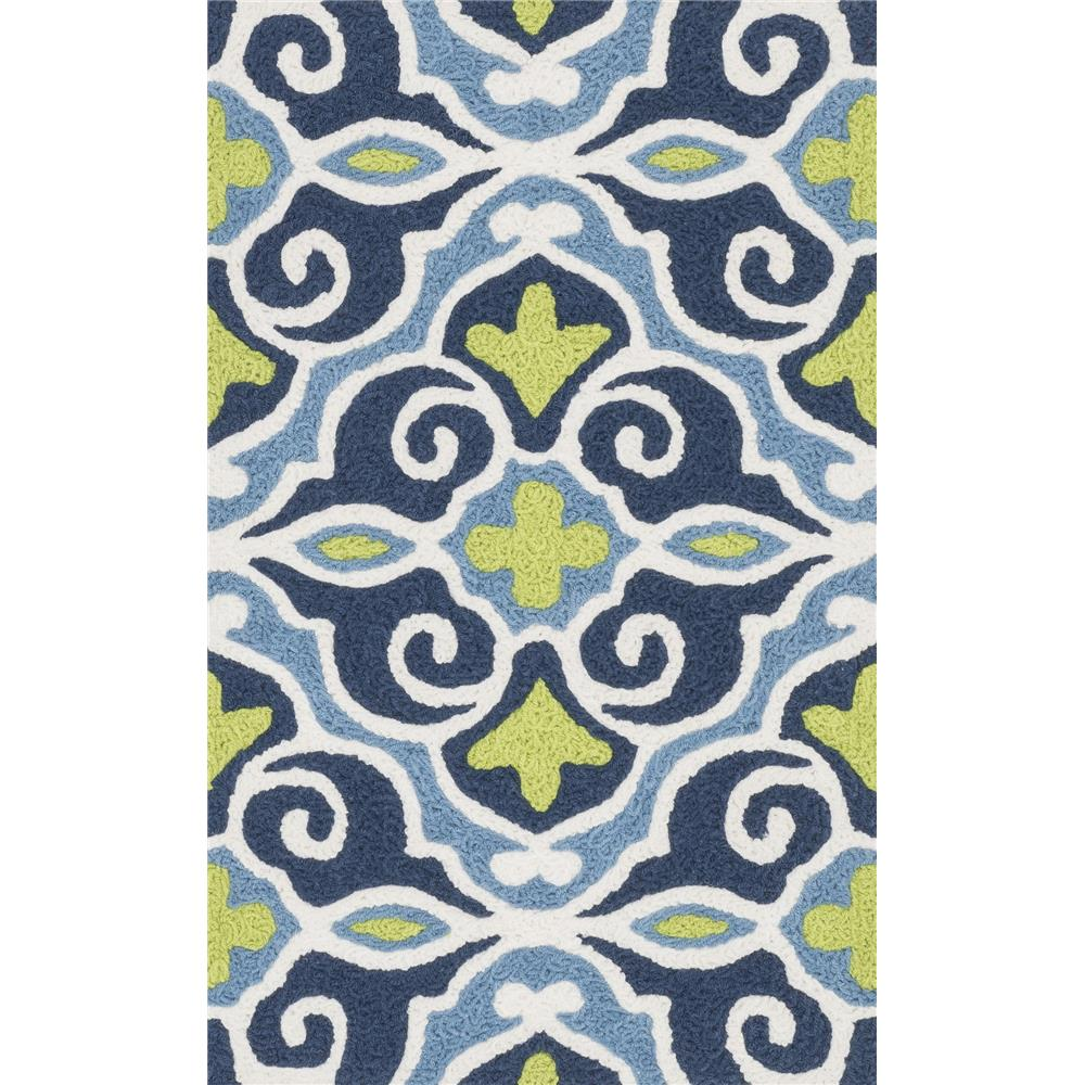 Loloi Rugs HAN15 Angelou Blue/Green Transitional Area Rug in 1
