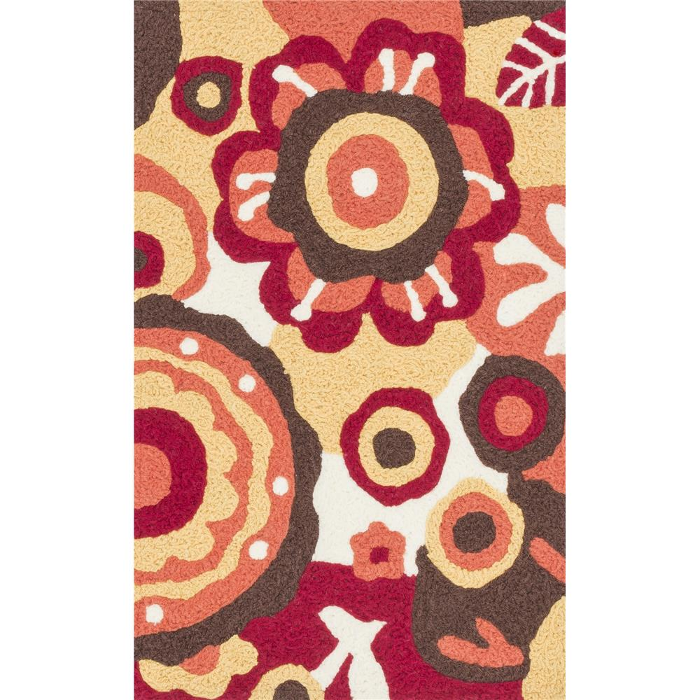 Loloi Rugs HAN16 Angelou Red/Yellow Transitional Area Rug in 1