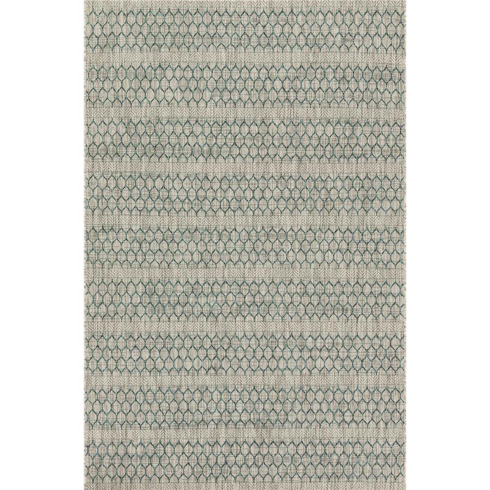 Loloi Rugs IE-01 Isle Grey/Teal Indoor/Outdoor Area Rug in 2
