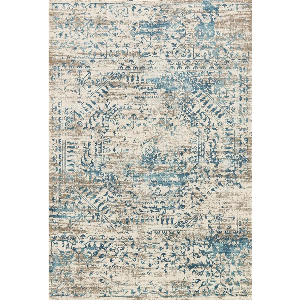 Loloi Rugs KT-05 Kingston Ivory/Blue Transitional Area Rug in 2