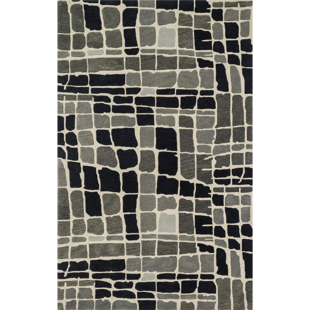 Loloi Rugs NV-01 Nova Grey/Black Contemporary Area Rug in 3