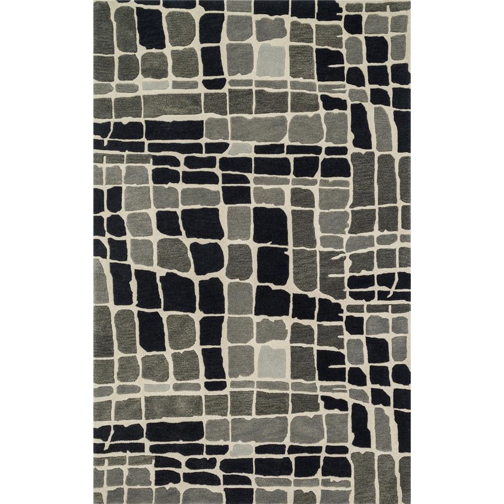 Loloi Rugs NV-01 Nova Grey/Black Contemporary Area Rug in 3