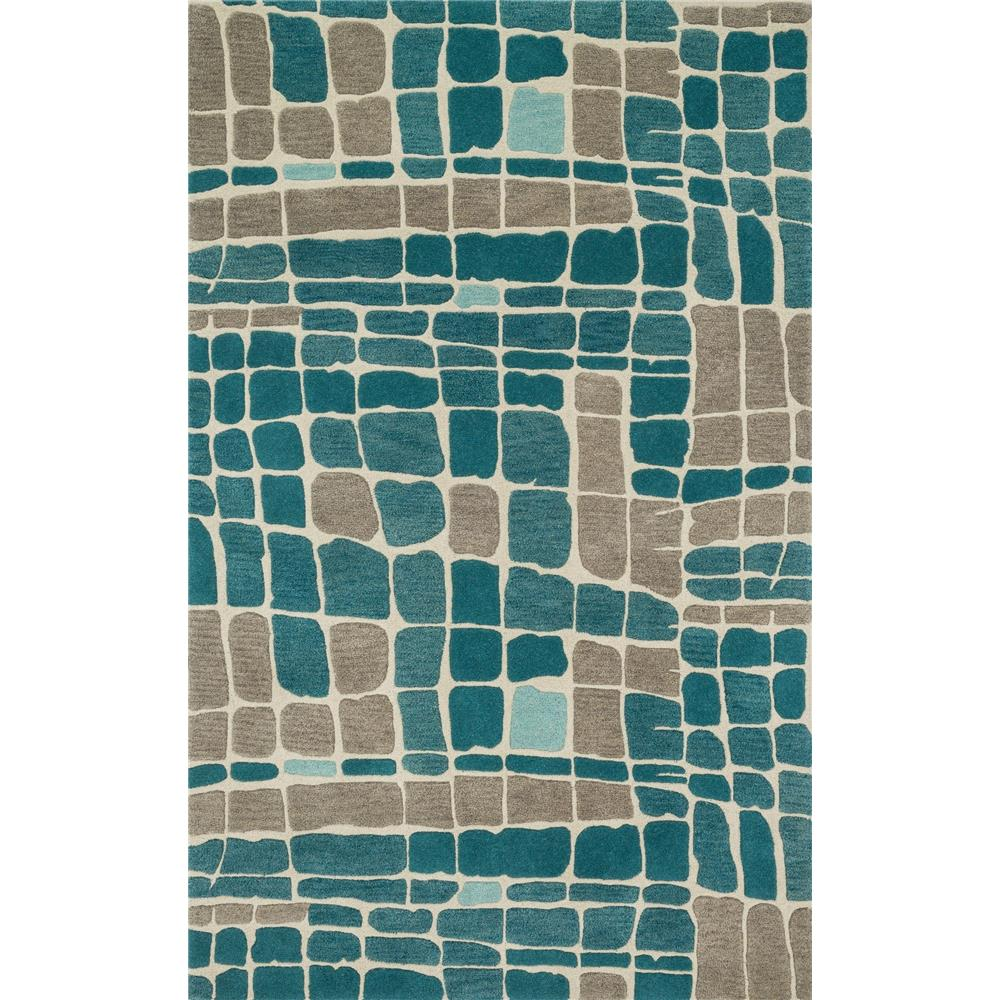 Loloi Rugs NV-01 Nova Teal/Grey Contemporary Area Rug in 2