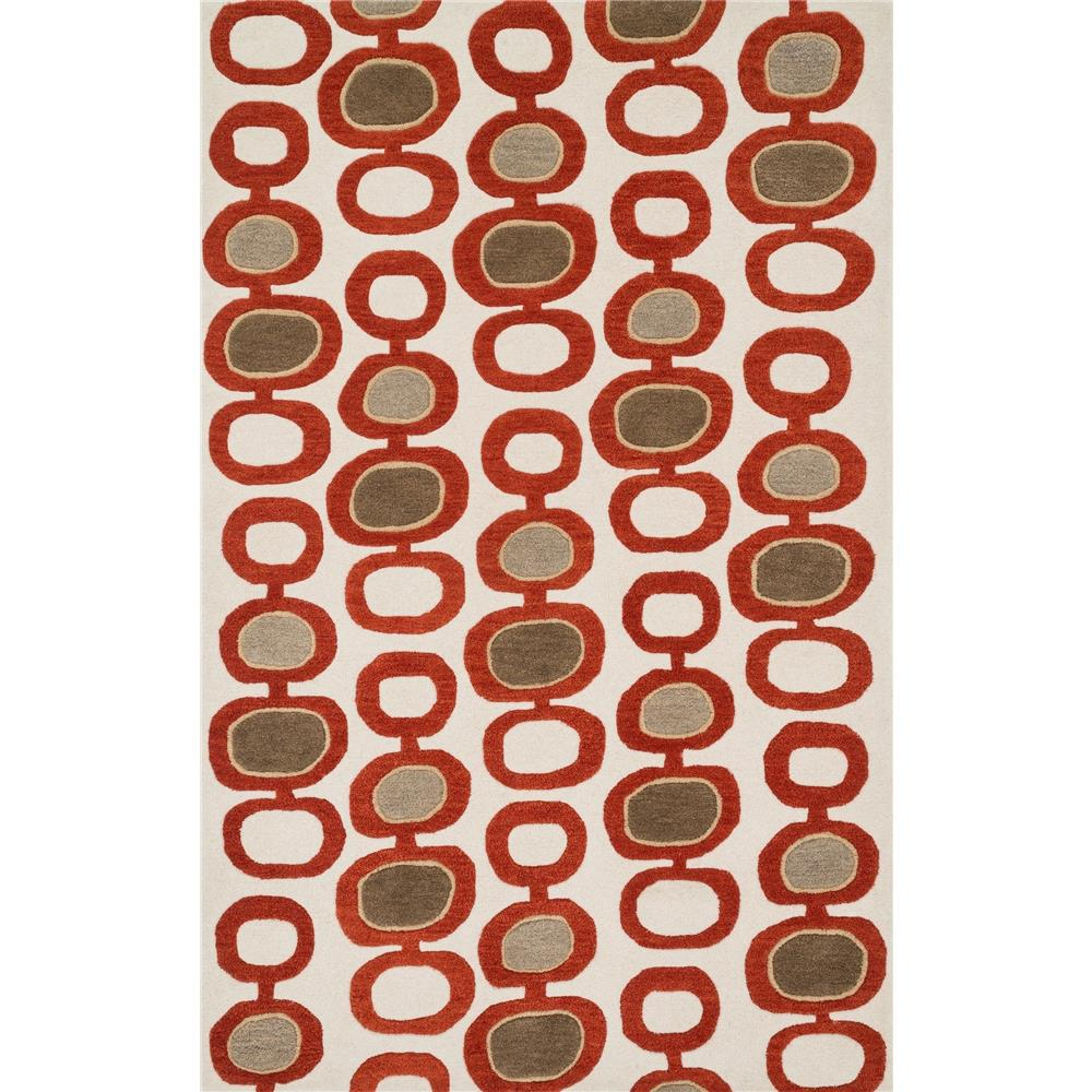 Loloi Rugs NV-02 Nova Ivory/Red Contemporary Area Rug in 3