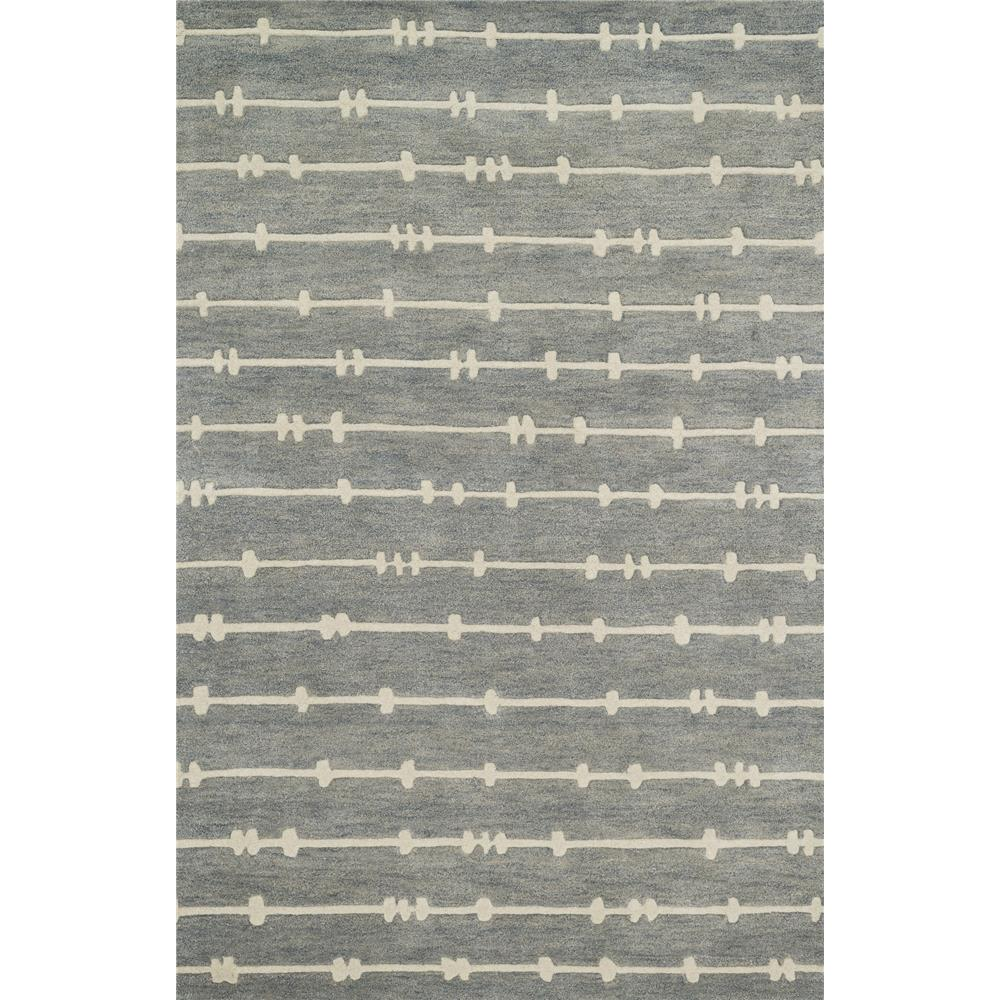 Loloi Rugs NV-04 Nova Grey/Ivory Contemporary Area Rug in 3