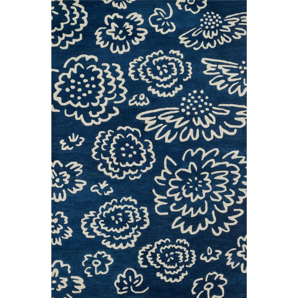 Loloi Rugs NV-06 Nova Navy/Ivory Contemporary Area Rug in 3