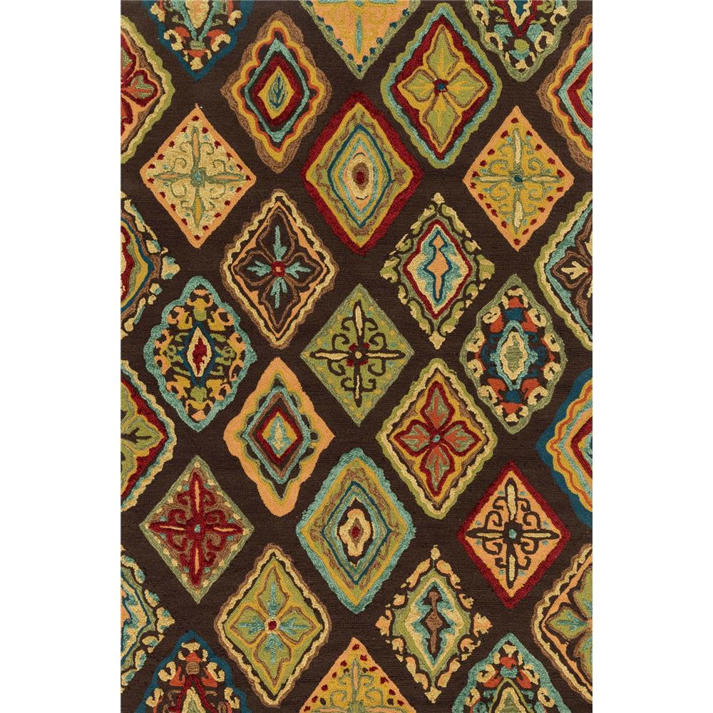 Loloi Rugs HOL02 Olivia Brown/Multi Transitional Area Rug in 2