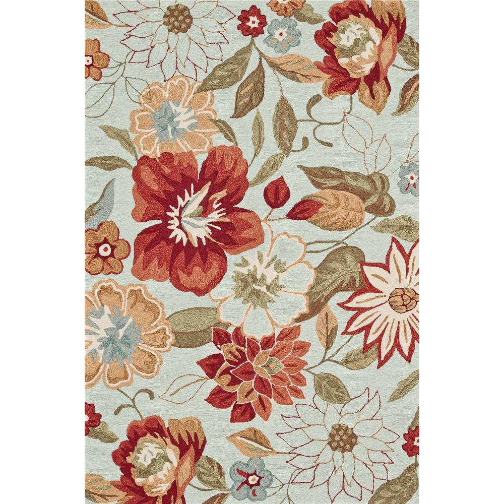 Loloi Rugs SRS04 Summerton Mist/Red Transitional Area Rug in 2