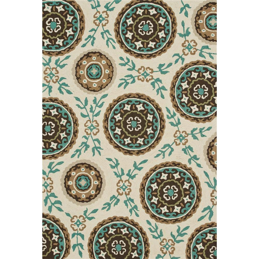 Loloi Rugs SRS08 Summerton Ivory/Teal Transitional Area Rug in 2