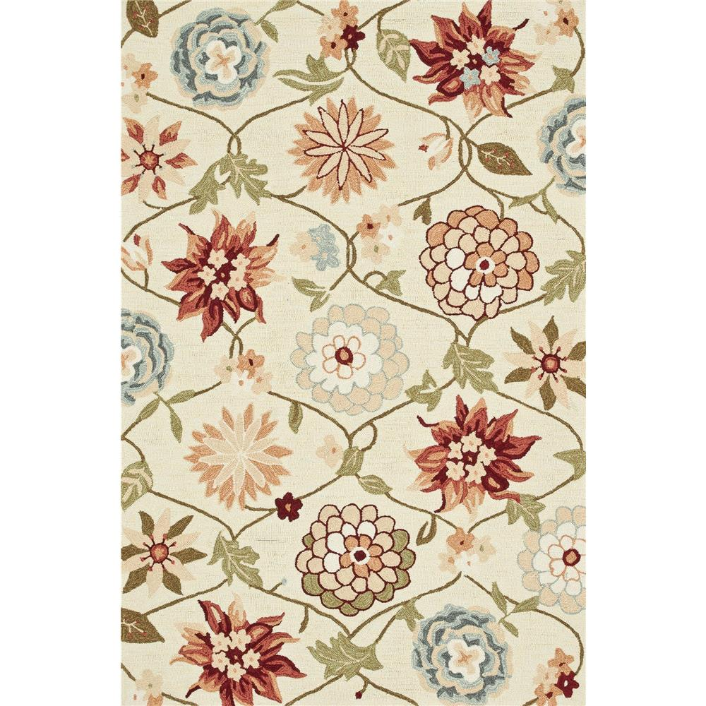 Loloi Rugs SRS11 Summerton Ivory/Floral Transitional Area Rug in 2