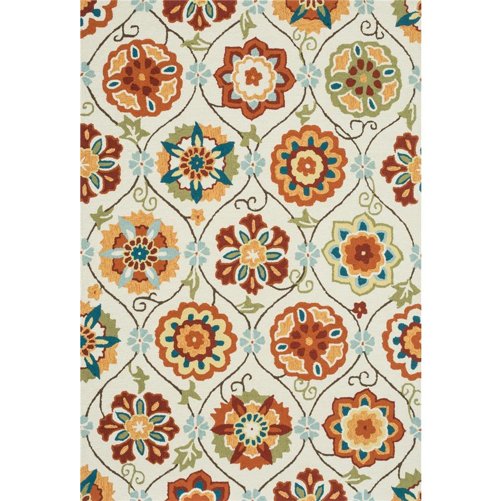 Loloi Rugs SRS19 Summerton Ivory/Spice Transitional Area Rug in 2