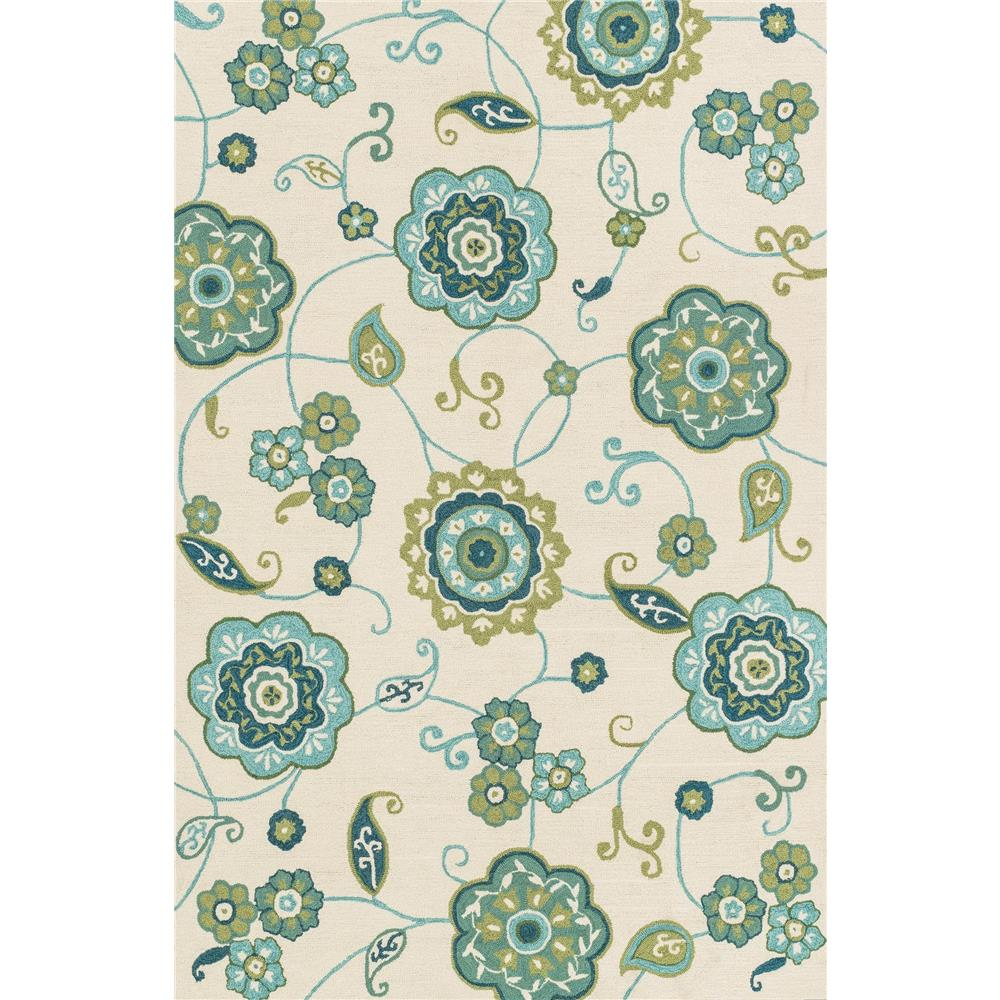 Loloi Rugs SRS24 Summerton Ivory/Aqua Transitional Area Rug in 2