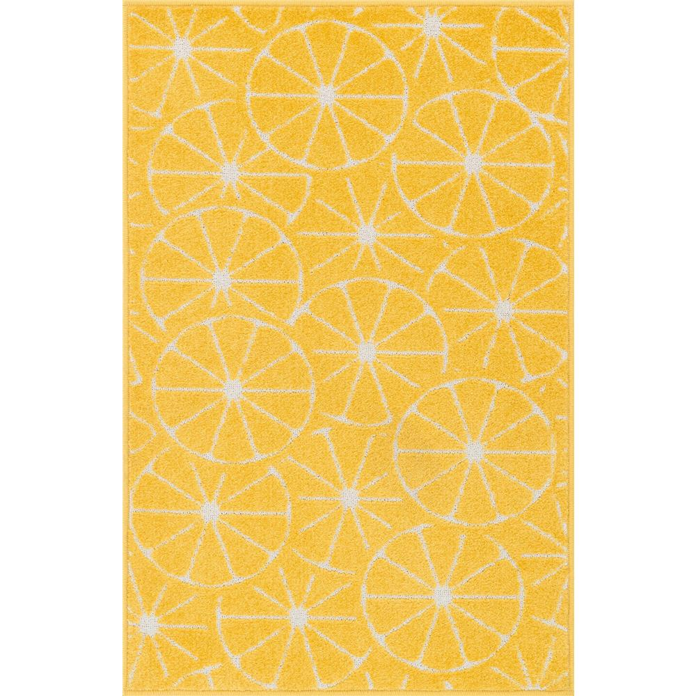 Loloi Rugs HTI01 Tilley Yellow/Ivory Contemporary Area Rug in 2