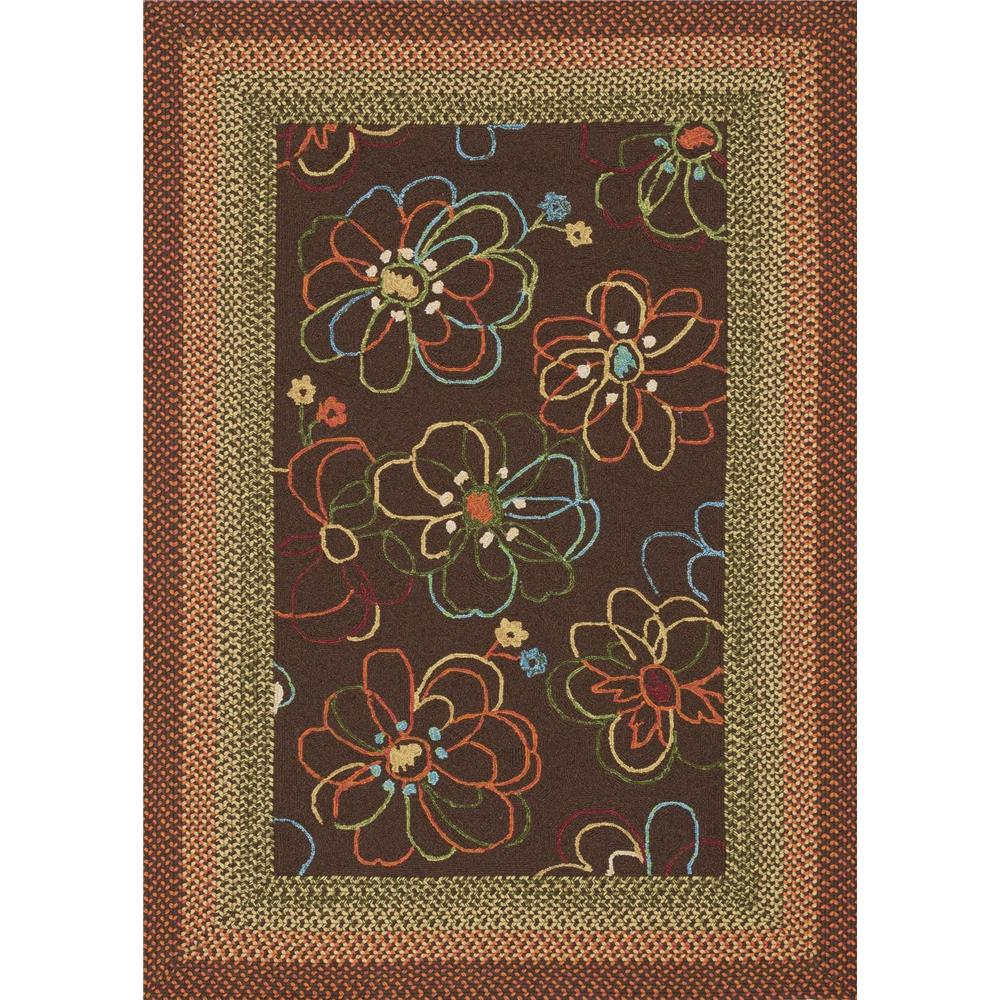 Loloi Rugs ZM-02 Zamora Brown Indoor/Outdoor Area Rug in 3