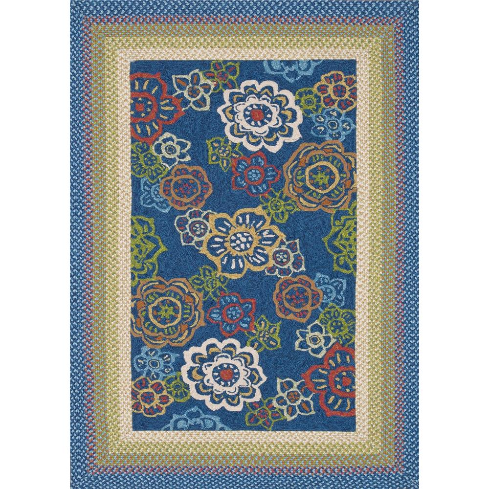 Loloi Rugs ZM-04 Zamora Blue Indoor/Outdoor Area Rug in 5