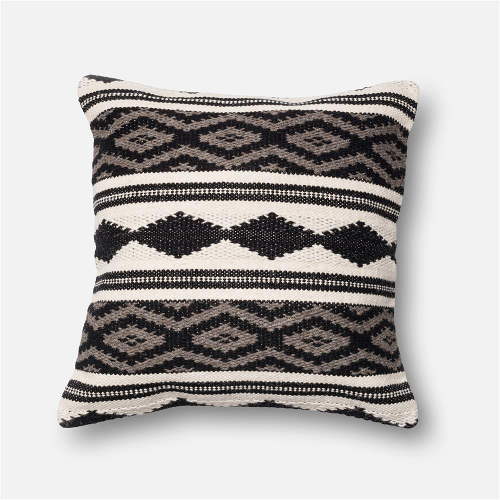 Loloi Rugs P0095 DSET Pillow in Grey / Multi