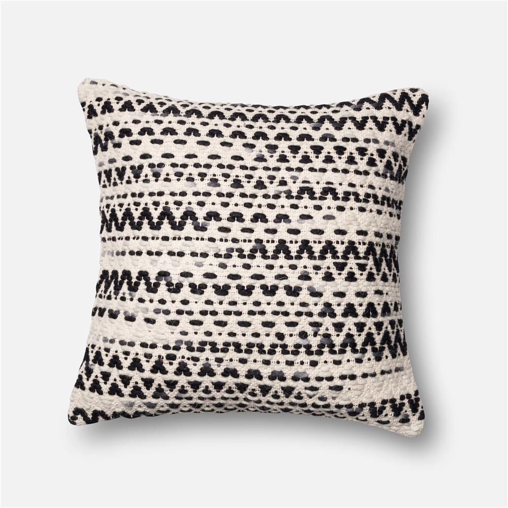 Loloi Rugs P0096 DSET Pillow in Grey / Multi