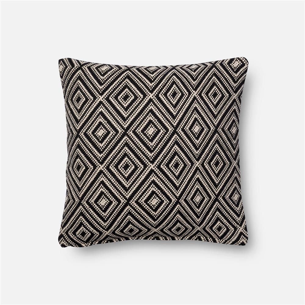 Loloi Rugs P1010 Black / White Pillow