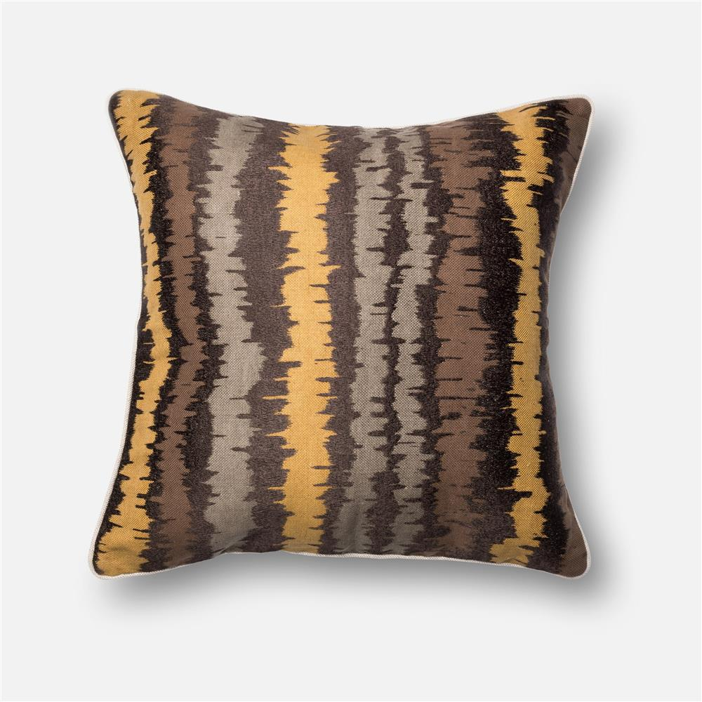 Loloi Rugs P0137 DSET Pillow in Brown / Multi