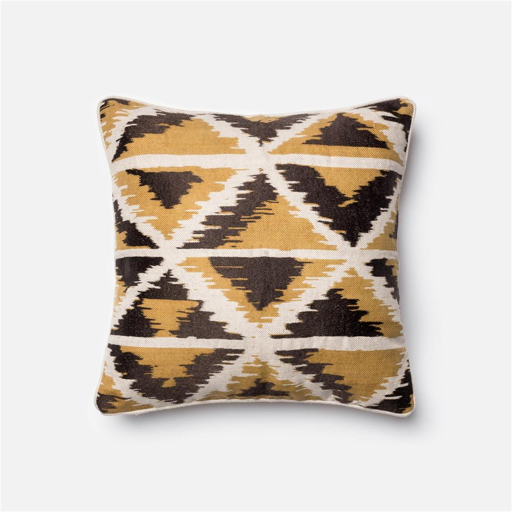 Loloi Rugs P0140 DSET Pillow in Gold / Multi