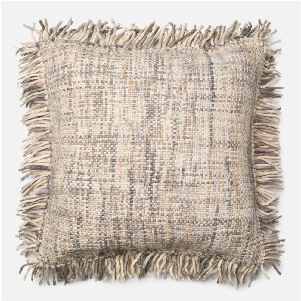 Loloi Rugs P0183 DSET Pillow in Grey