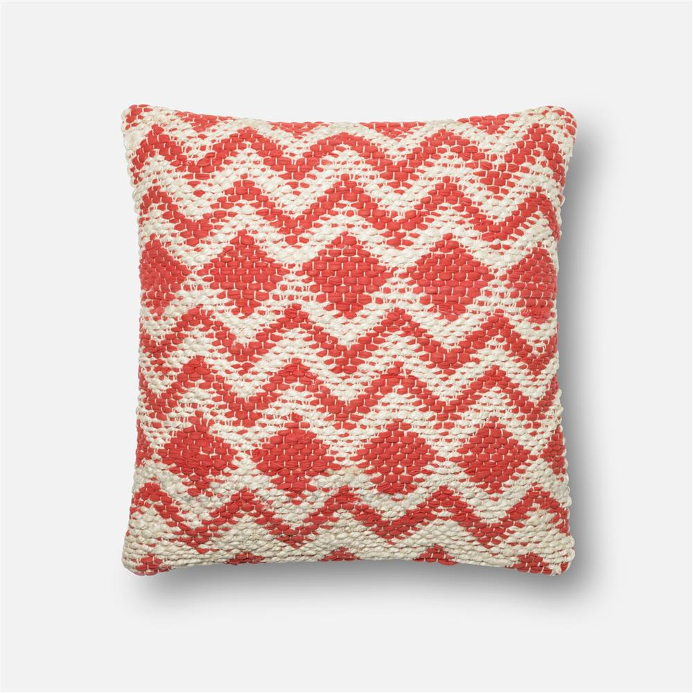 loloi rugs p0185 poly set pillow in coral grey